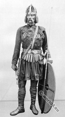 Merovingian warrior costume