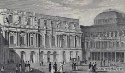The Palais-Royal. Maison de Bourbon-Orléans. Palace of the Duke of Orleans. Philippe Égalité, Palais de l'Égalité