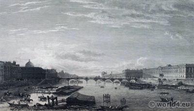 Paris Pont Neuf in 18th century