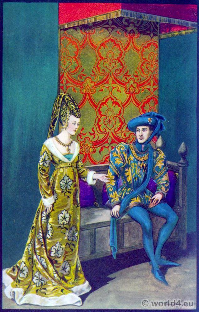 Isabelle, Portugal, Philippe le Bon, Burgundy, court dresses, Hennin, Headdresses, middle ages, fashion