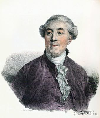 Jacques Necker 1732-1804. French statesman. Finance minister of Louis XVI. Portrait French Revolution History