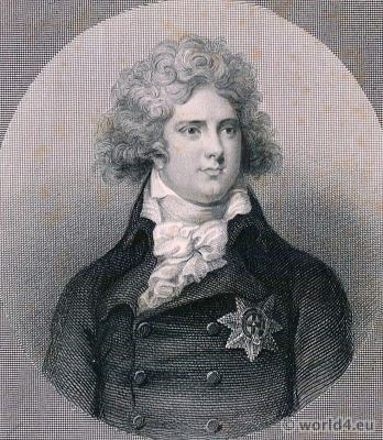 Prince of Wales. George IV. King of the United Kingdom of Great Britain and Ireland. Portrait French Revolution History