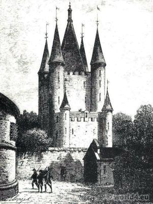 Le Carreau du Temple. Temple Prison French Revolution History. Rue Eugene Spuller