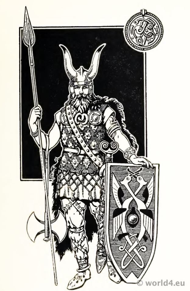 Varangian Guard. Viking costume. Scandinavian Warrior. Byzantine Empire. Viking Chiefs 5th Century