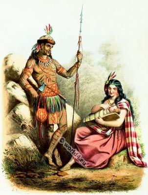 Traditional Native American Indian costumes