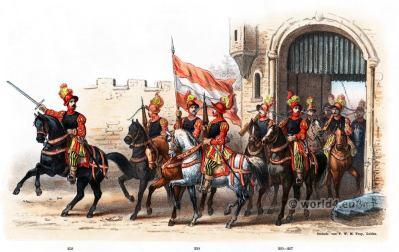 Lieutenant-Captain of the archers. Emperor Charles V. Renaissance fashion period. 16th century military uniforms. Dutch War.