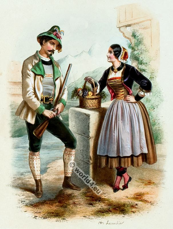 Costumes Of All Countries By Alexandre Lacauchie 1850s