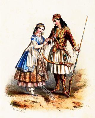 Greece, Costumes, Alexandre Lacauchie, fashion history