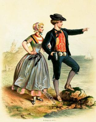 Costumes Zélandais. Alexandre Lacauchie. Les nations. Album des Costumes De Tous les Pays.