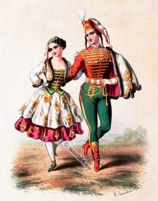 Alexandre Lacauchie. Les nations. Album des Costumes De Tous les Pays.