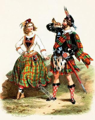 Scotland, Costumes, Alexandre Lacauchie, fashion history