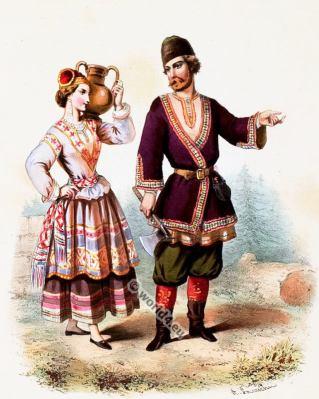 Russia, Costumes, Alexandre Lacauchie, fashion history