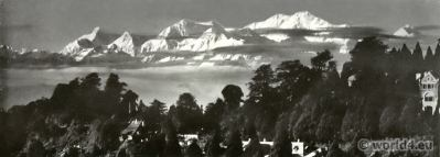 Tiger hill. Darjeeling India. View on Himalaya. J. Burlington Smith.