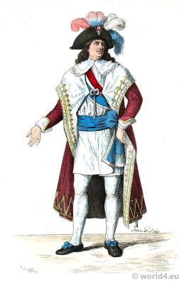 French Revolution History Costume. Member of the Directoire style. Franz Lipperheide