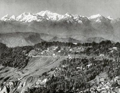 Batasia loop. Ghum. panoramic view of Darjeeling India. View on Himalaya. J. Burlington Smith.