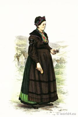 Traditional German Thuringia Brotterode costume.