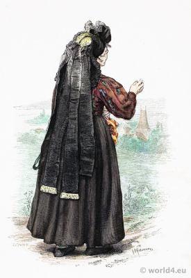 Traditional German peasant woman costume.
