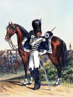 Horse Grenadier of the Imperial Guard. French Army uniforms. France Military costumes