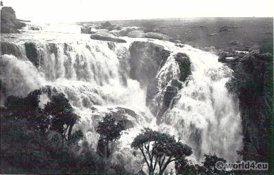 African landscape. Ikandu Falls near Newcastle.