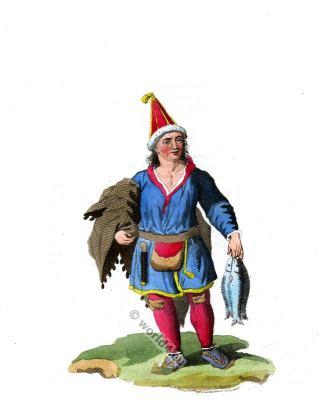 A man of Lapland in traditional dress. Scandinavian folk costume