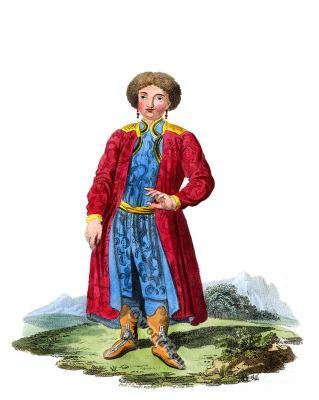 Katschin Krasnojarsk folk dress. Traditional Russian national costume. Edward Harding
