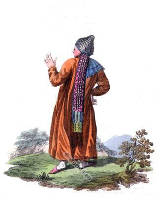 Traditional Tatarstan folk dress. Traditional Russian national costume