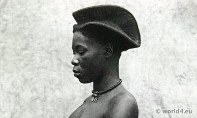 African hair styles. Yetsang Girl (Southern Cameroons). Africa tribe
