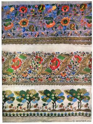 Turkish embroidery, pattern, needle work, 19th century