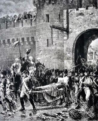 French revolution history. Death of Charles de Bonchamps