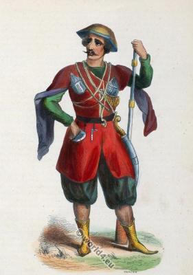 Georgia Caucasus costume. Traditional Georgia clothing. Asian dress