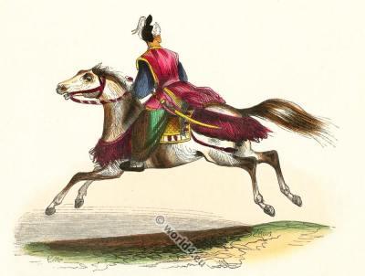 Japanese cavalry rider. Samurai. Cavalier Japonais. Traditional Japan military. Asian cavalry.