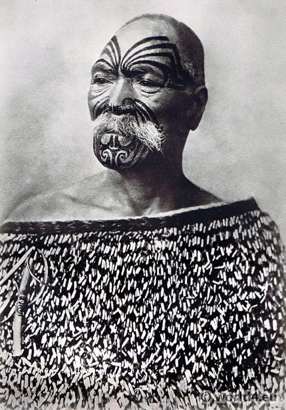 Tattooed Maori 1913