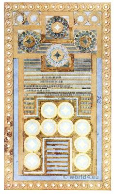 Inlaid gaming board. Palace of Knossos. Minoan culture.