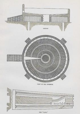 India sacred architecture. tower of silence. Zoroastrianism in India. History of the Parsis.