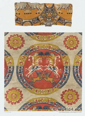 Ancient Byzantine silk fabrics,