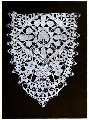 Punto in aria. Italian needle point lace. Renaissance fashion