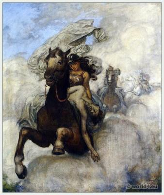 Ride of the Valkyrie. Opera Costumes. The Ring Cycle. Ring des Nibelungen. Richard Wagner.