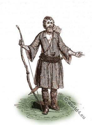 Cretan costume. Crete Traditional folk dress.