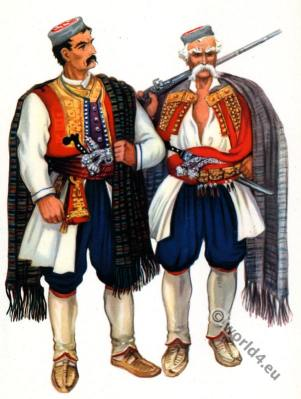 Montenegro national costumes.