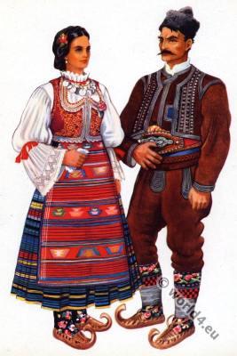 Vladimir Kirin. Serbian national costumes. Srpske nacionalne kostime.