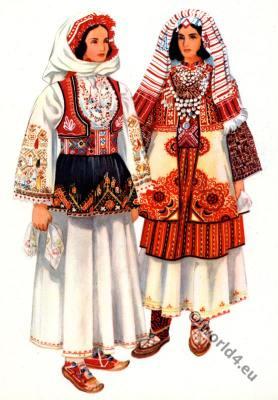 Vladimir Kirin. Serbian national costumes from Kosovo, Peć. Народна носња са Косова, Пећ.