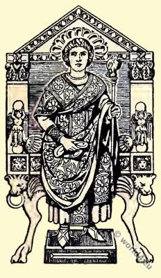 Official Dress of the Byzantine Consuls. Byzantine Costume History.