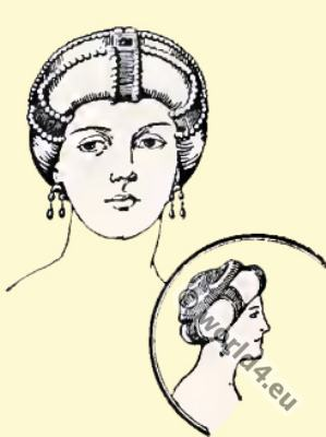 Byzantine Head-dress 6th century, Imperial diadem.