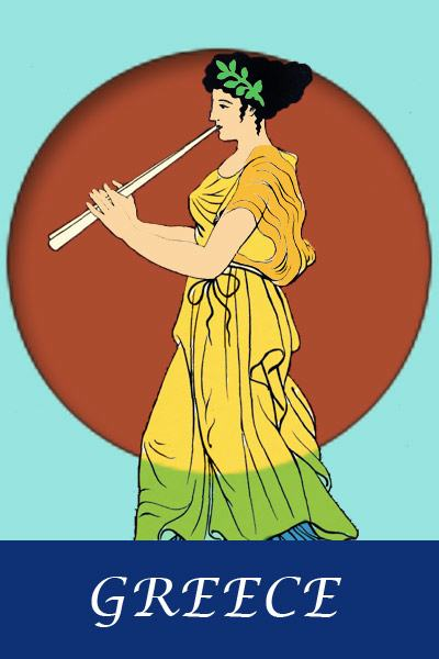 Ancient Greek costumes and clothing. The Peplos. Antique Greece dressing and clothes.