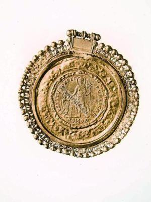 Ancient Roman Jewlery. Medallion of Theodosius I. Roman Emperor