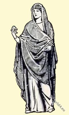 Ancient, Byzantine, costume history, Dalmatica, Angustus clavus