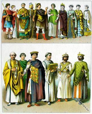 byzantine empire costumes, Eastern Roman, fashion history, Empress, Emperor