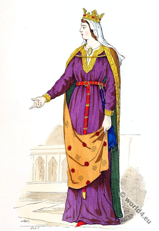 Capetian, Costume History, middle ages, nobility,14th. century, fashion.