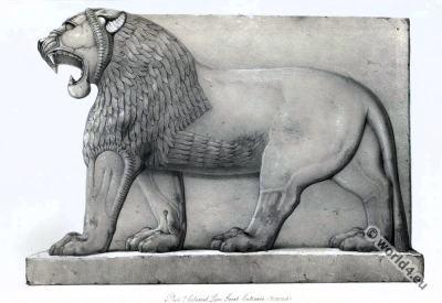 Ancient Assyrian History. Colossal Lion. Nimroud.