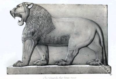 Ancient Assyrian History. Colossal Lion. Nimroud.